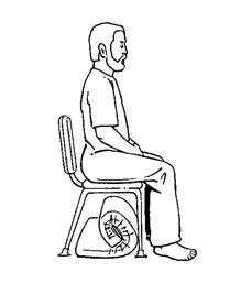 position sur une chaise