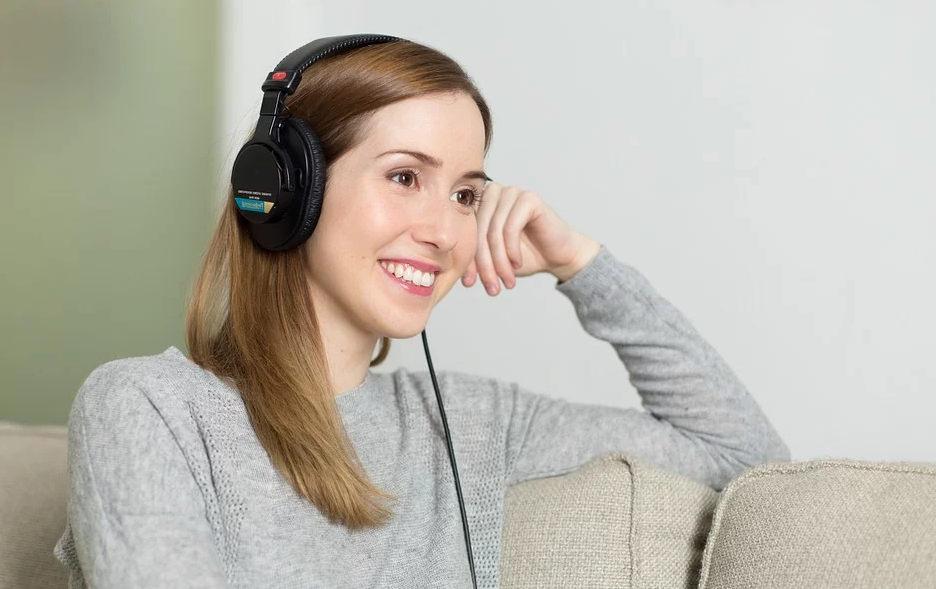 casque musique femme